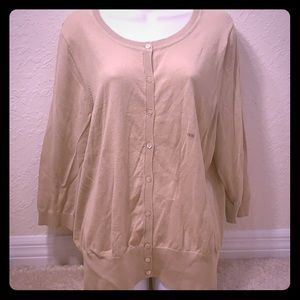 Lane Bryant Tan Cardigan 18/20 NWT